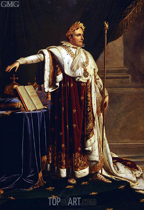 Napoleon in Coronation Robes, Undated | Girodet de Roussy-Trioson | Painting Reproduction
