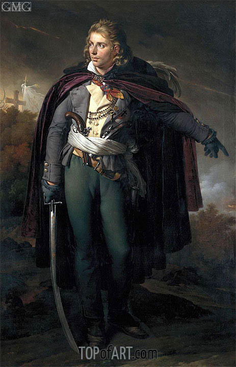 Portrait of Jacques Cathelineau commander of the Vendee, c.1816/24 | Girodet de Roussy-Trioson | Painting Reproduction