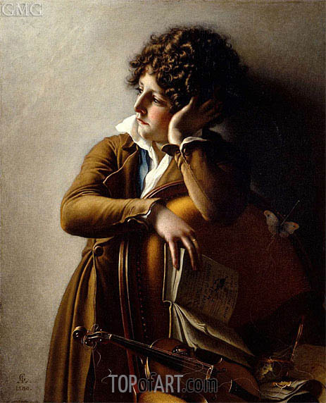 Portrait of Benoit-Agnes Trioson, 1800 | Girodet de Roussy-Trioson | Painting Reproduction