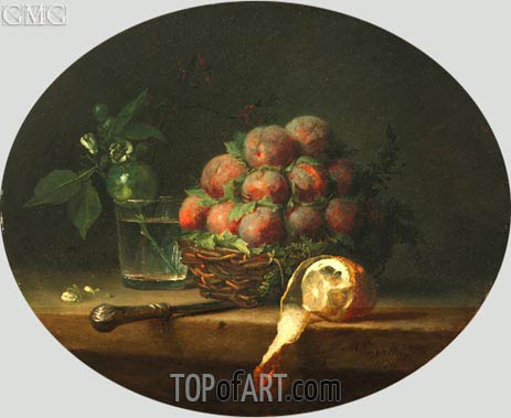 Still Life with Plums and a Lemon, 1778 | Vallayer-Coster | Gemälde Reproduktion