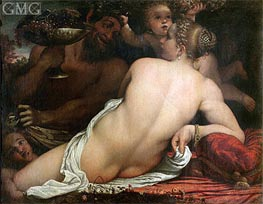A Bacchante, Undated by Annibale Carracci | Painting Reproduction