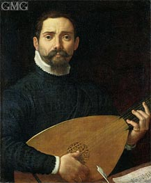 Portrait of a Lute Player | Annibale Carracci | Gemälde Reproduktion