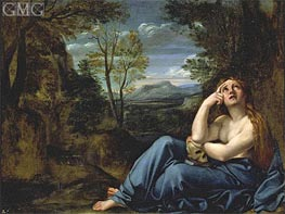 Mary Magdalene in a Landscape | Annibale Carracci | Gemälde Reproduktion