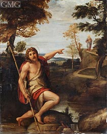 Saint John the Baptist Bearing Witness, undated by Annibale Carracci | Painting Reproduction