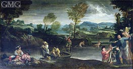 Fishing, c.1585/88 by Annibale Carracci | Painting Reproduction