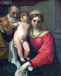 Virgin with Cherries | Annibale Carracci | Gemälde Reproduktion