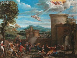 The Stoning of St. Stephen | Annibale Carracci | Gemälde Reproduktion