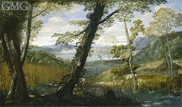River Landscape | Annibale Carracci | Painting Reproduction
