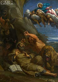 Christ appearing to Saint Anthony Abbot | Annibale Carracci | Gemälde Reproduktion