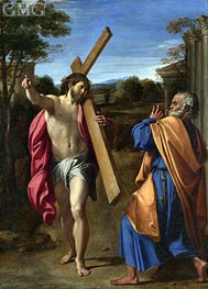 Christ Appearing to Saint Peter on the Appian Way | Annibale Carracci | Gemälde Reproduktion