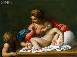 The Madonna and Sleeping Child with the Infant St John the Baptist (Il Silenzio), c.1599/00 by Annibale Carracci | Painting Reproduction