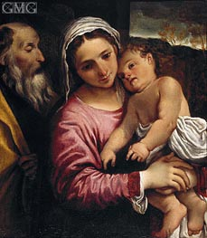 The Holy Family | Annibale Carracci | Gemälde Reproduktion