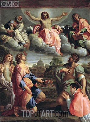 Christ in Glory with the Saints, Undated | Annibale Carracci | Gemälde Reproduktion