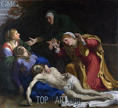 The Dead Christ Mourned (The Three Maries), c.1604 | Annibale Carracci | Painting Reproduction