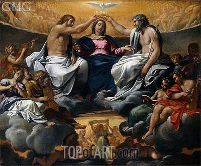 The Coronation of the Virgin, a.1595 | Annibale Carracci | Gemälde Reproduktion