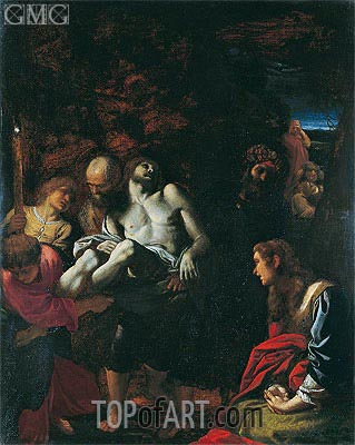 The Burial of Christ, 1595 | Annibale Carracci | Gemälde Reproduktion