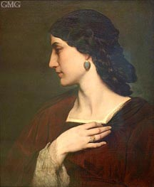 Nanna, c.1861 by Anselm Feuerbach | Painting Reproduction