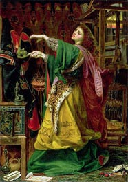 Morgan Le Fay (Queen of Avalon), 1864 von Sandys | Gemälde-Reproduktion