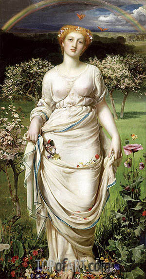 Gentle Spring, c.1860   Sandys   Painting Reproduction