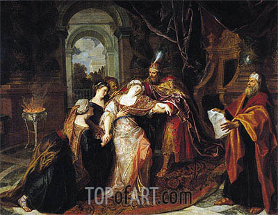The Swooning of Esther, b.1697 | Antoine Coypel | Painting Reproduction