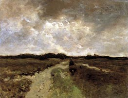 Crossing the Heath, c.1885/88 by Anton Mauve | Painting Reproduction