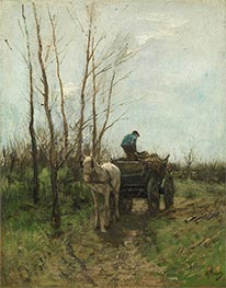 Gathering Wood, Undated by Anton Mauve   Painting Reproduction