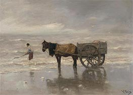 Gathering Seaweed, Undated by Anton Mauve   Painting Reproduction