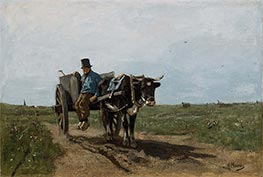 Carter on a Country Road, 1867 by Anton Mauve | Painting Reproduction