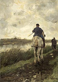 The Tow-Path, c.1868/78 by Anton Mauve | Painting Reproduction