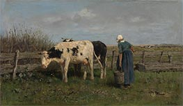 Milking Time, c.1875 by Anton Mauve | Painting Reproduction