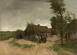 House on the Dirt Road, c.1870/88 by Anton Mauve | Painting Reproduction