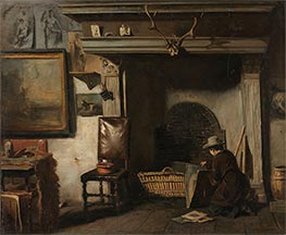 The Studio of the Haarlem Painter Pieter Frederik van Os, c.1856/57 by Anton Mauve | Painting Reproduction