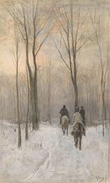 Riders in the Snow in the Haagse Bos | Anton Mauve | Painting Reproduction