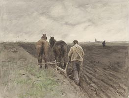 Farmer behind the Plough | Anton Mauve | Painting Reproduction