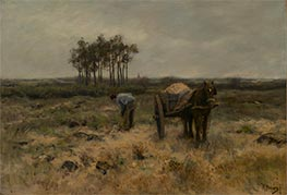 Digging Sand | Anton Mauve | Painting Reproduction
