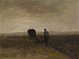 Early Morning Plowing | Anton Mauve | Painting Reproduction