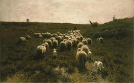 The Return of the Flock, Laren, c.1886/87 by Anton Mauve | Painting Reproduction