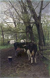 Milking Time, 1880s by Anton Mauve | Painting Reproduction