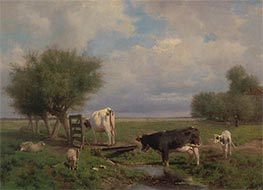 Cows and Sheep, c.1853/88 by Anton Mauve | Painting Reproduction