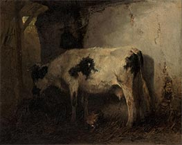 Cow in a Stable, 1858 by Anton Mauve | Painting Reproduction