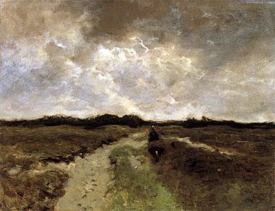 Crossing the Heath, c.1885/88 | Anton Mauve | Painting Reproduction