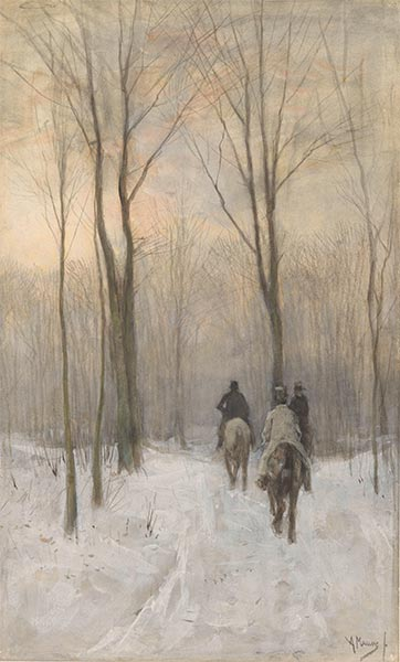 Riders in the Snow in the Haagse Bos, 1880 | Anton Mauve | Painting Reproduction