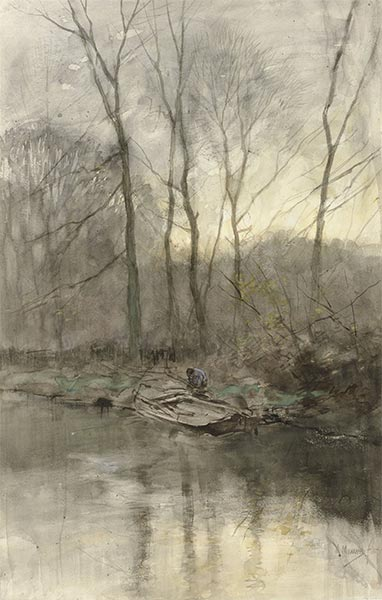 Forest Edge on the Water, c.1848/88   Anton Mauve   Painting Reproduction