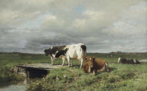 Cattle in an Extensive Polder Landscape, Undated   Anton Mauve   Painting Reproduction