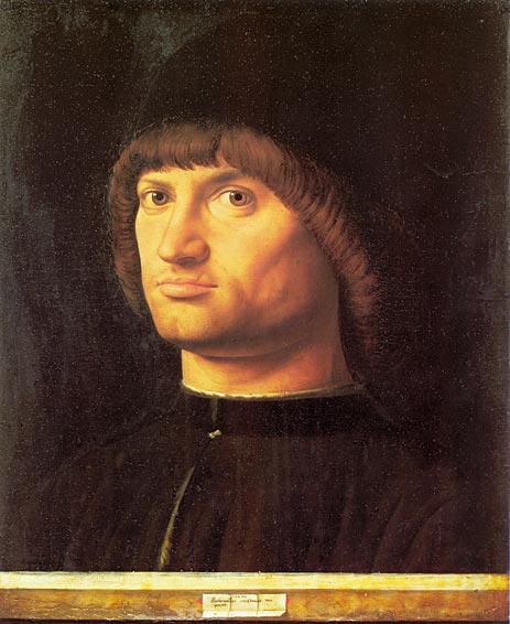 Portrait of a Man (Il Condottiere), 1475 | Antonello da Messina | Painting Reproduction