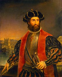 Vasco da Gama, 1838 by Antonio da Fonseca | Painting Reproduction