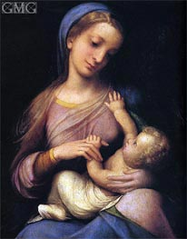 Madonna and Child (Madonna Campori), c.1519 by Correggio | Painting Reproduction