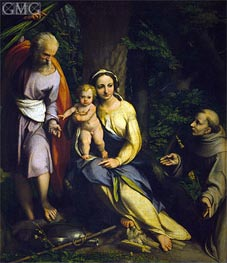 Rest on the Flight into Egypt, c.1520 by Correggio | Painting Reproduction