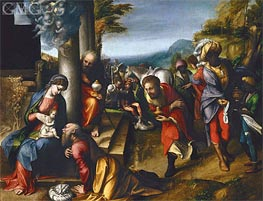 Adoration of the Magi, c.1517 by Correggio | Painting Reproduction