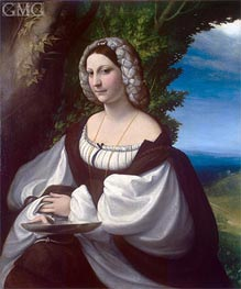 Portrait of a Lady, c.1518 von Correggio | Gemälde-Reproduktion
